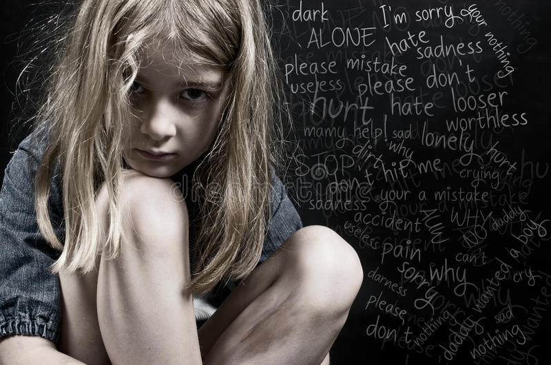 Child abuse royalty free stock images