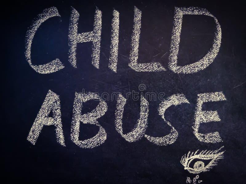 Child Abuse word written on english language with eye shape diagram royalty free stock photos