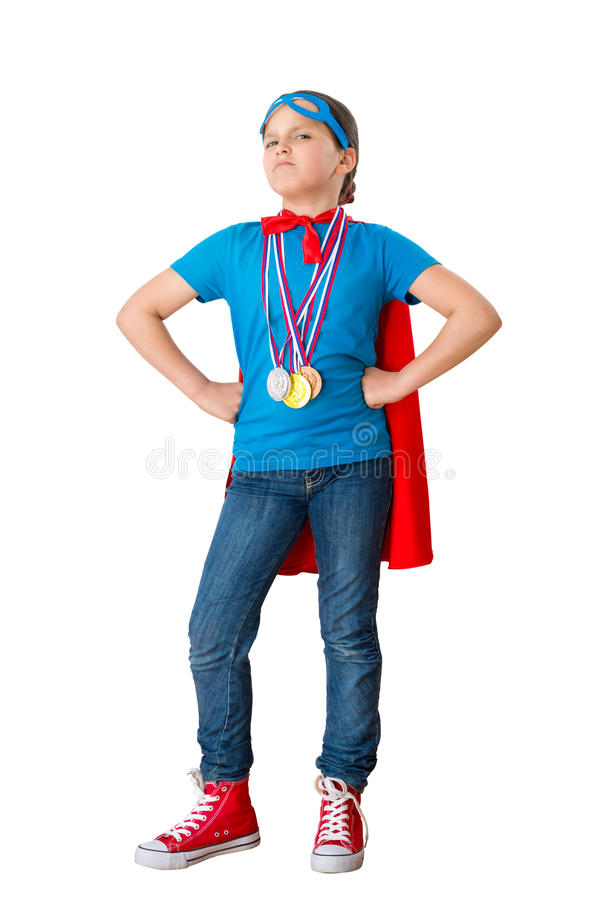 Download Child acting as champion stock image. Image of play, success - 41051271
