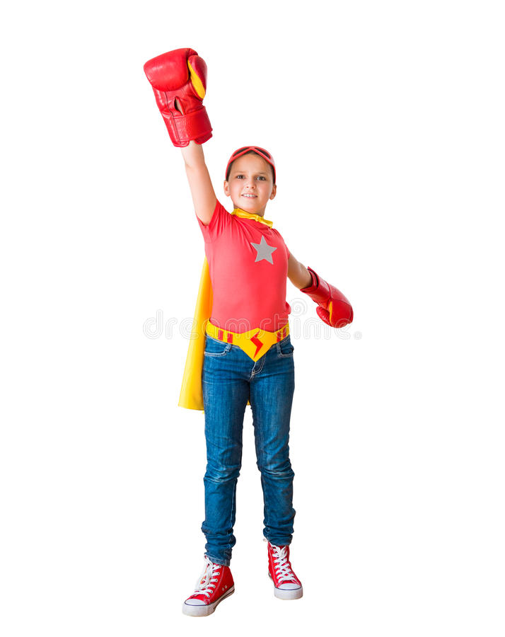 Download Child Acting Like A Super Hero Stock Photo - Image: 41051314
