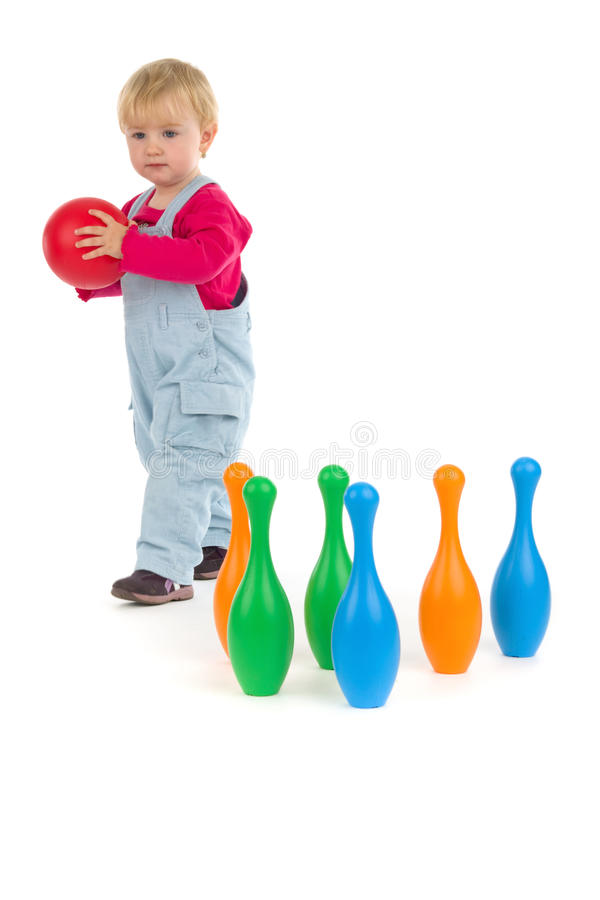 Free Child And Ninepins Stock Photo - 18587380