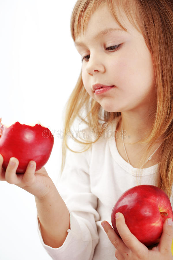 Download Child with apples stock photo. Image of female, adorable - 18583468