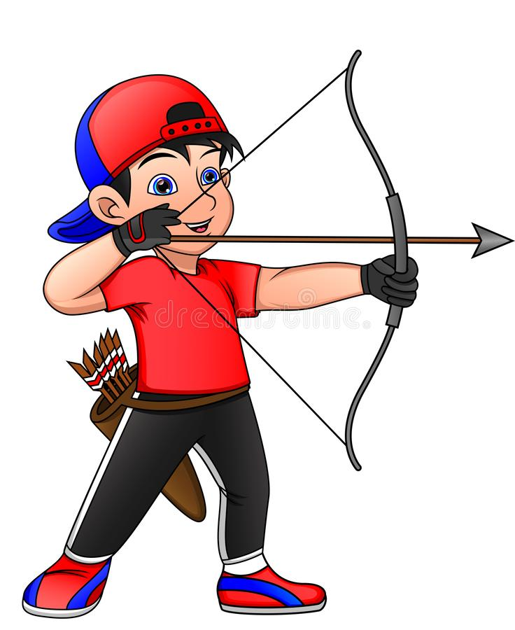 Free Child Are Engaged In Sports Archery Stock Image - 164716721
