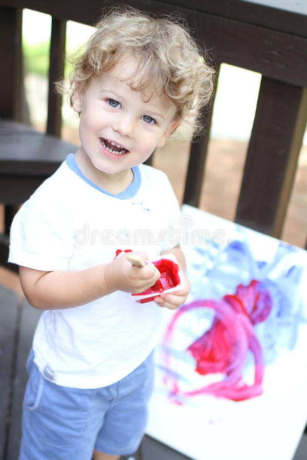 Download Child Art Fingerpainting stock image. Image of cute, child - 34037553