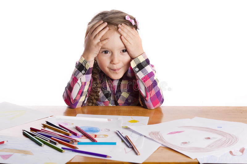 Download Child - An Artist With A Sketch Stock Photo - Image: 26339520