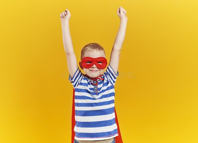 Child as superhero stock images