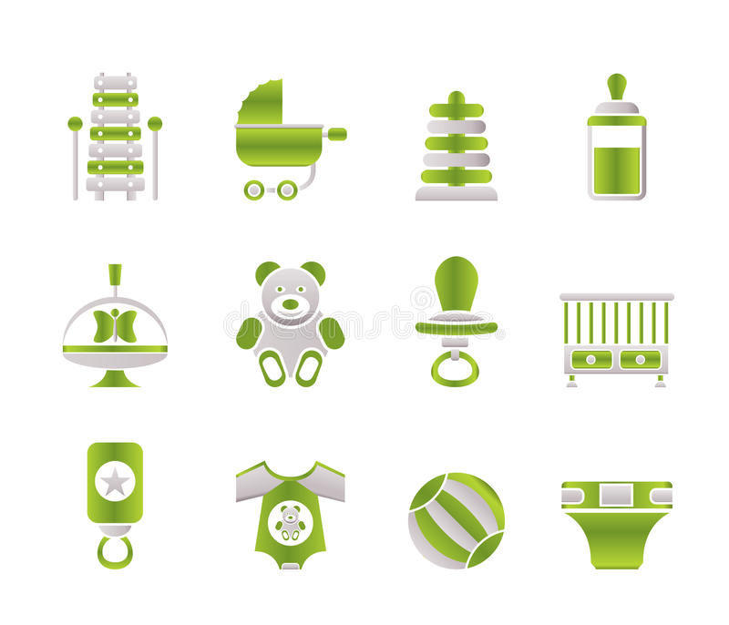 Download Child, Baby And Baby Online Shop Icons Stock Vector - Image: 13771284