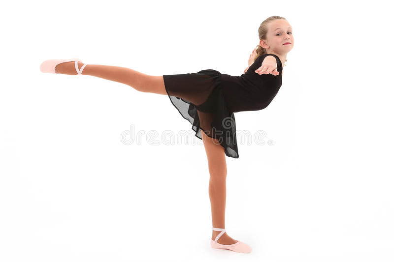 Download Child Ballerina Dancer With Clipping Path Royalty Free Stock Image - Image: 19086086