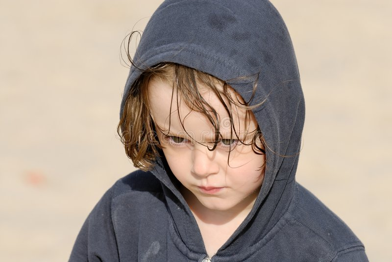Child at the beach. royalty free stock photo