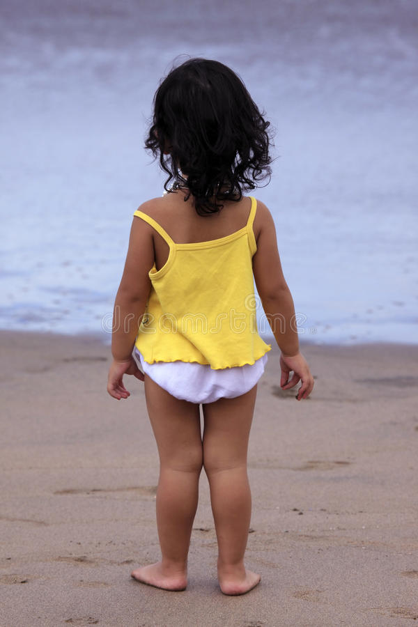 The child on a beach royalty free stock photography