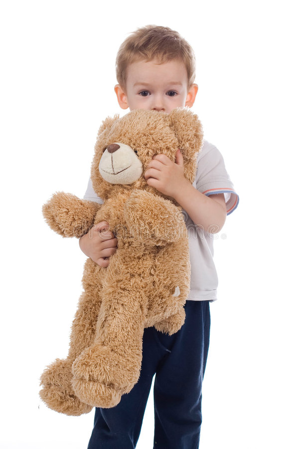 Child with bear royalty free stock image