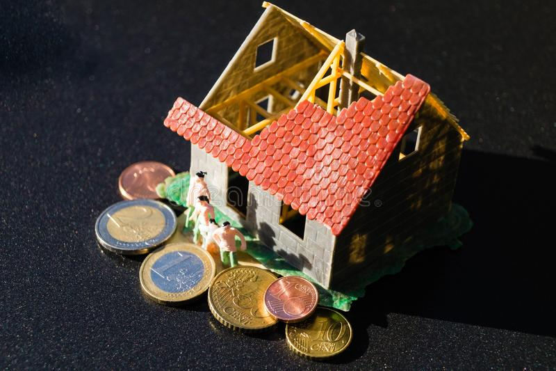 Child benefit to finance a home royalty free stock image