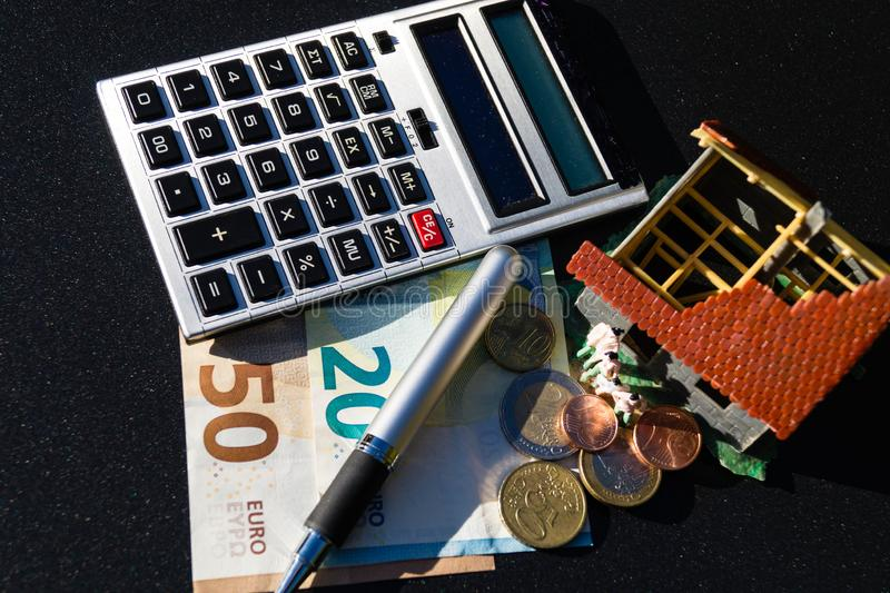 Child benefit to finance a home stock image