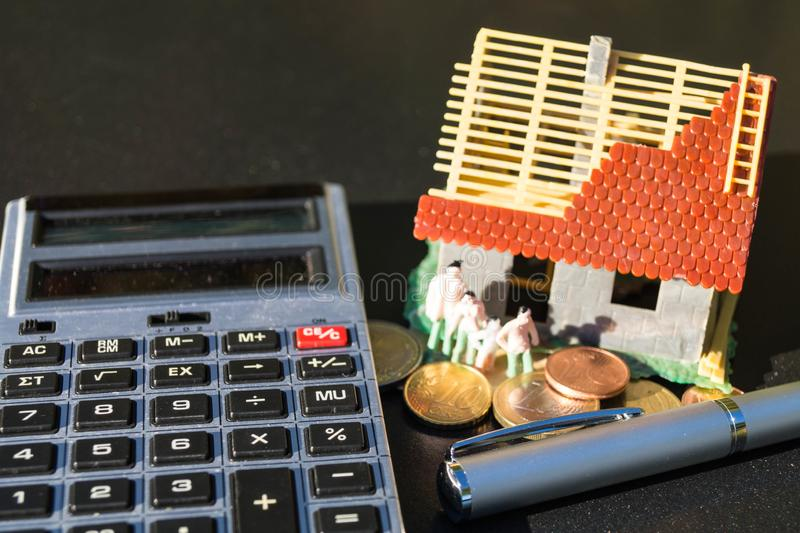 Child benefit to finance a home stock photo