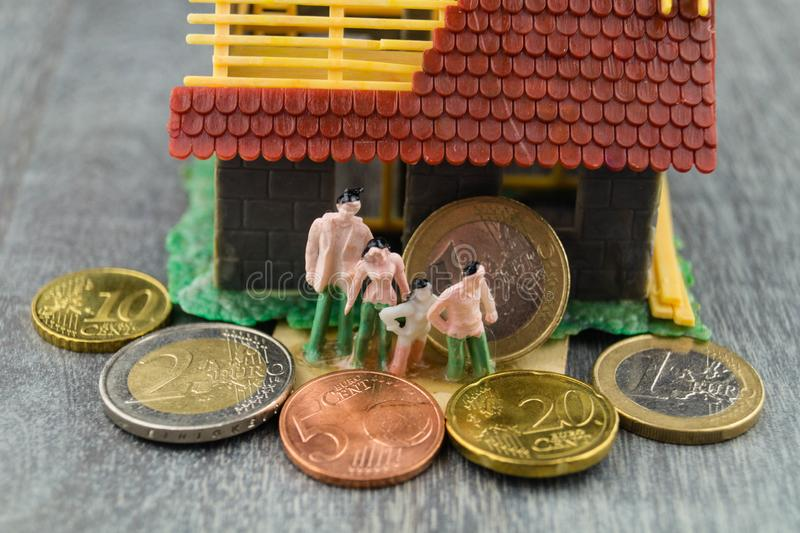 Child benefit to finance a home royalty free stock photography