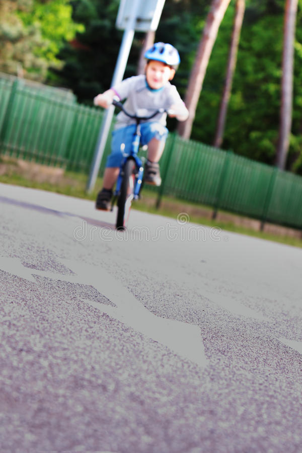 Child on bicycle royalty free stock photos