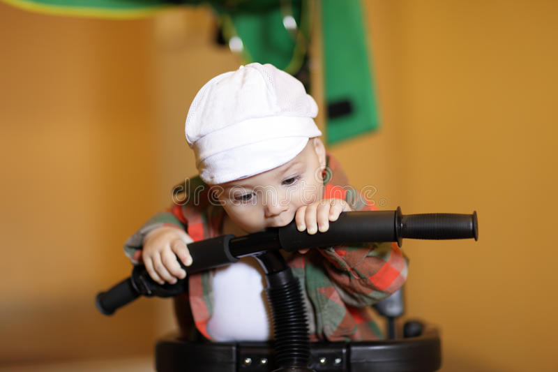 Child With Bicycle Royalty Free Stock Image
