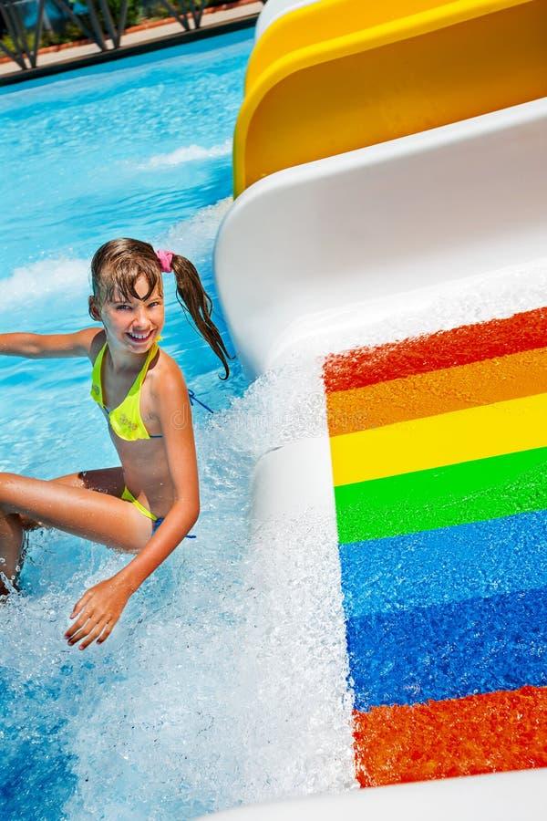 hot girl in water park