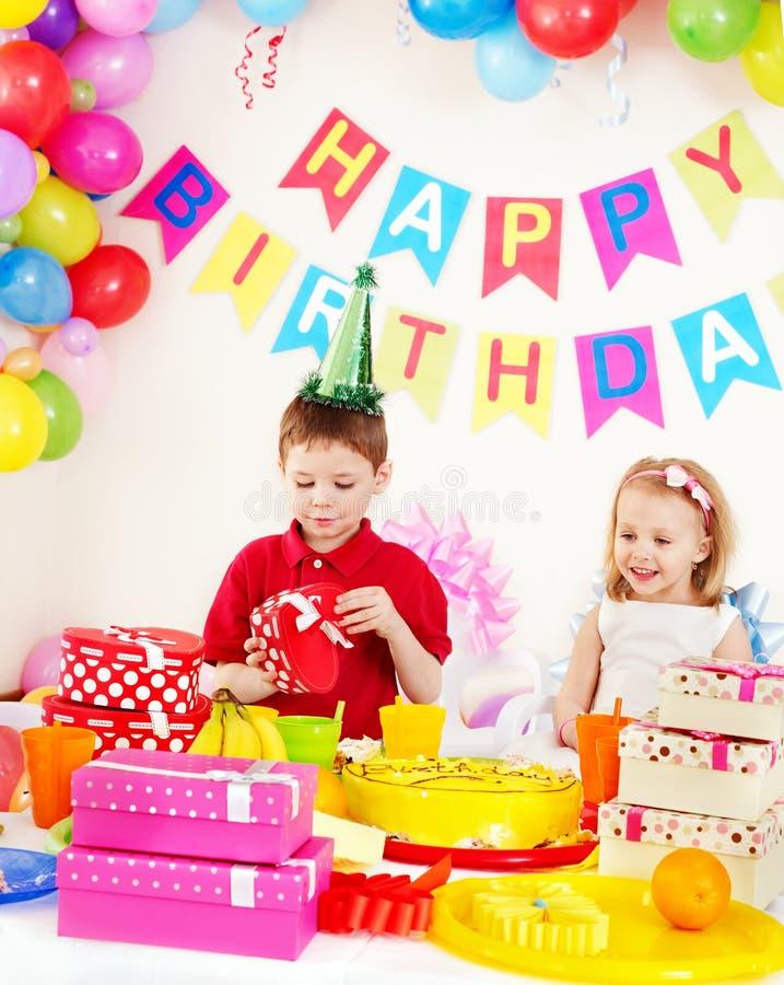 Child birthday party . Children happy birthday party . Indoor royalty free stock image