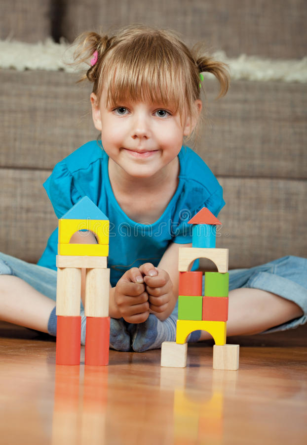 Download Child and blocks stock image. Image of activity, childhood - 14959635