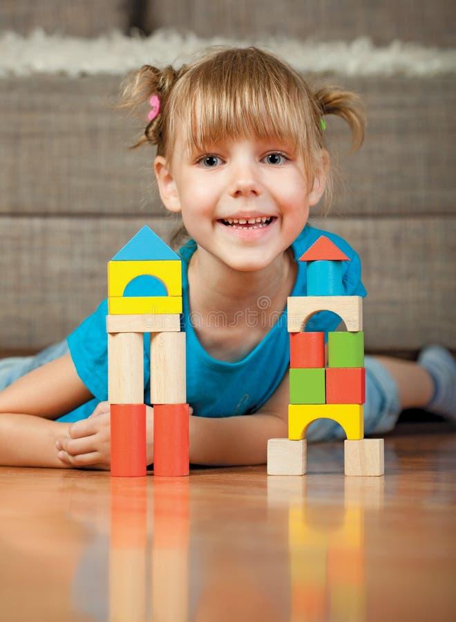 Download Child and blocks stock image. Image of cute, descriptive - 14959647
