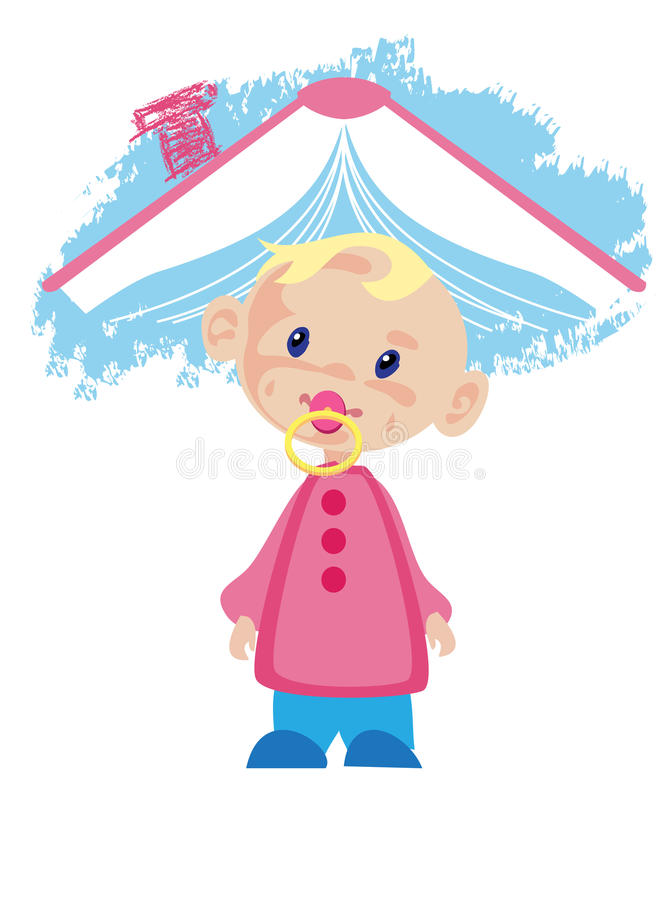 Download Child and book stock illustration. Image of chimney, memory - 20701007