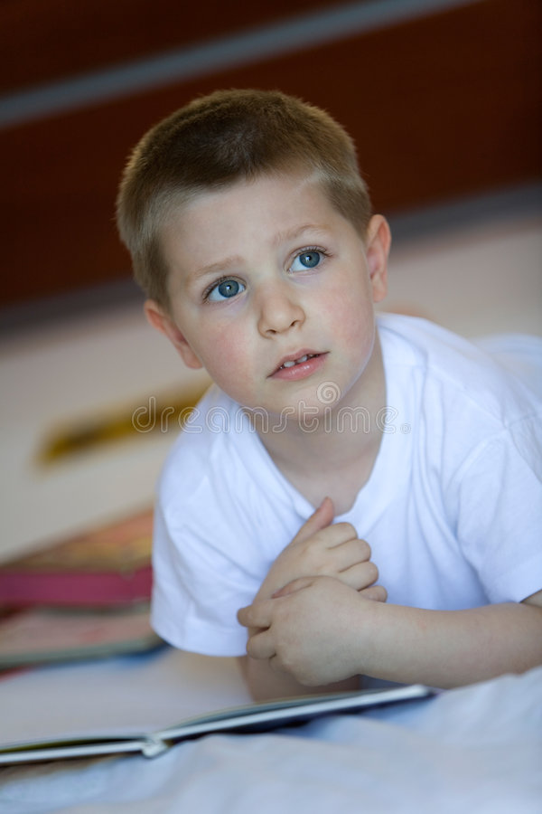 Child with books royalty free stock images