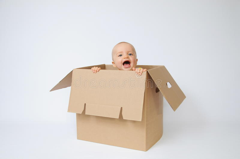 Download Child in the box stock image. Image of born, female, gift - 10791895