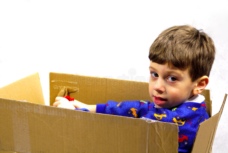 Download Child in a Box stock photo. Image of expression, driving - 80276