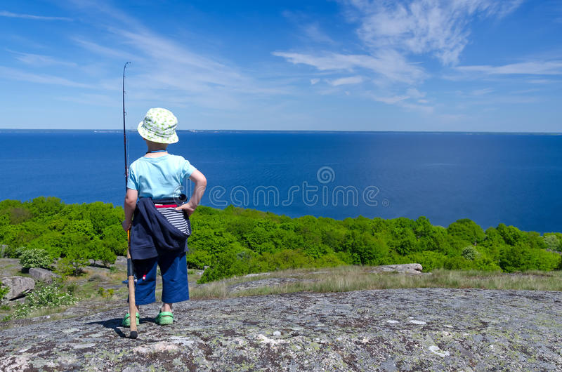 Download Child boy plans fishing stock photo. Image of sport, small - 32247738