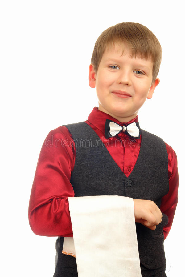 Child boy waiter