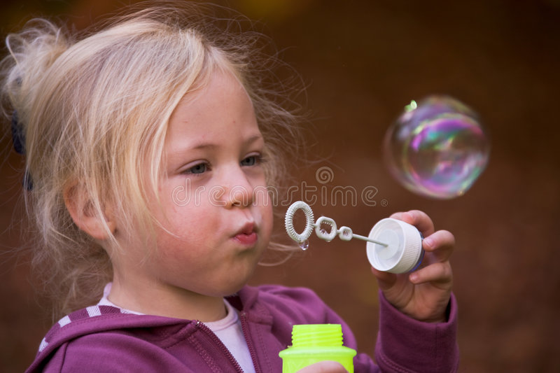 Download Child with bubbles stock image. Image of friendly, stuffed - 6835735