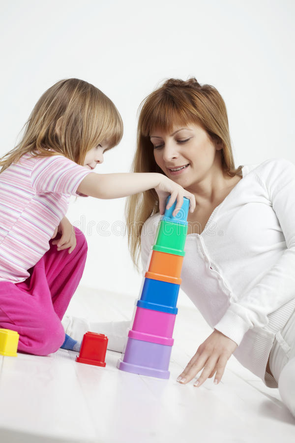 Child building stock photos