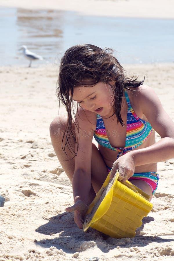 Download Child Building A Sand Castle Stock Image - Image: 21331601