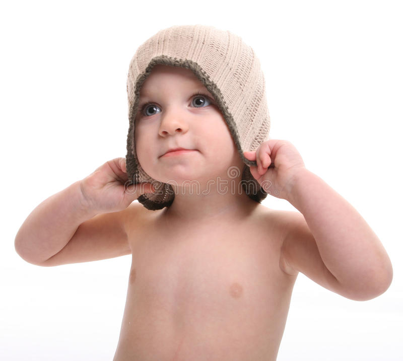 Download Child in a cap stock image. Image of offspring, human - 20808833