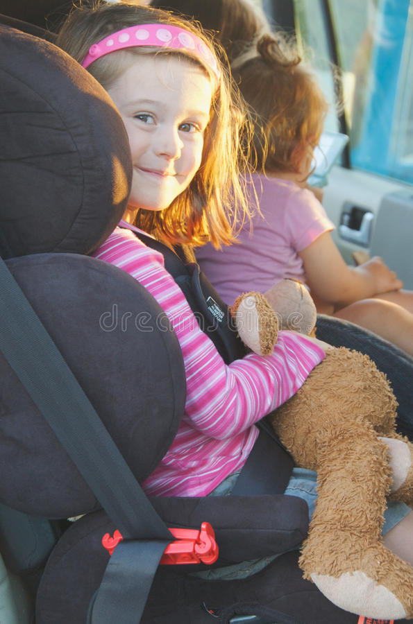 Download Child in car seat stock image. Image of family, restraint - 13804951