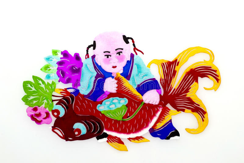 Download Child And Carp. Royalty Free Stock Image - Image: 19097786