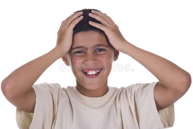 Child Caught By Surprise. Royalty Free Stock Image