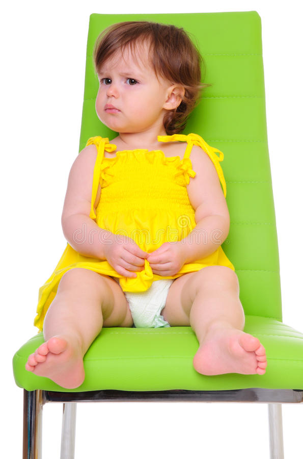 Child On Chair Stock Photography
