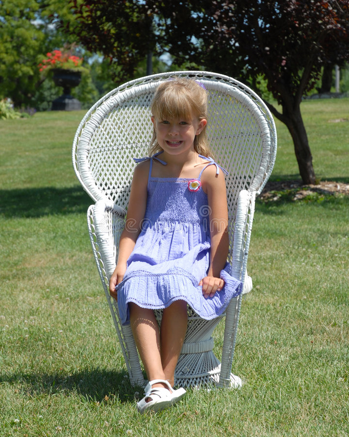Download Child in chair stock photo. Image of hair, spring, child - 2779582