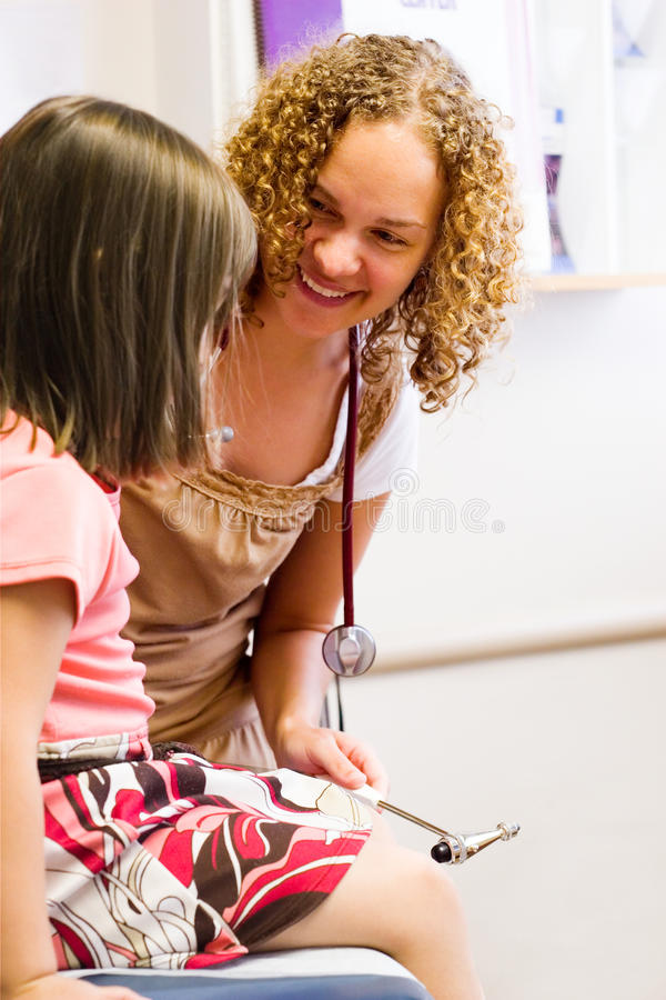 Child Checkup at Doctor Office stock image