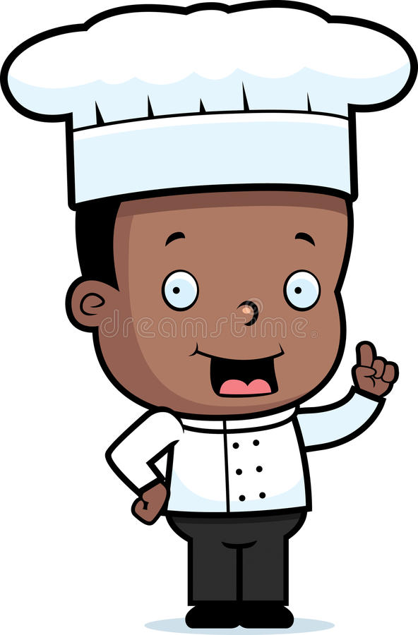 Download Child Chef stock vector. Image of smiling, talking, child - 15659677