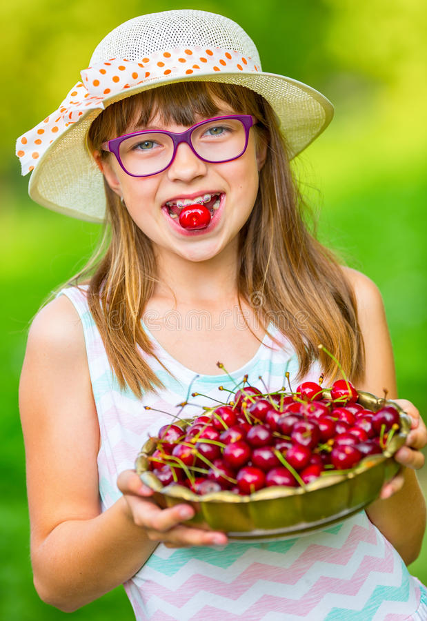 young-girl-cherry