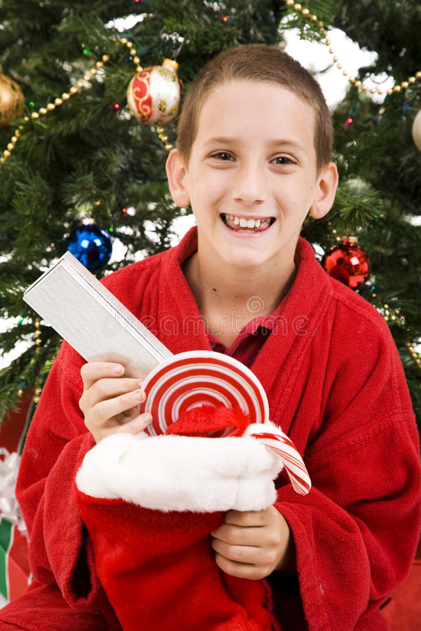 Child On Christmas Morning Royalty Free Stock Photo