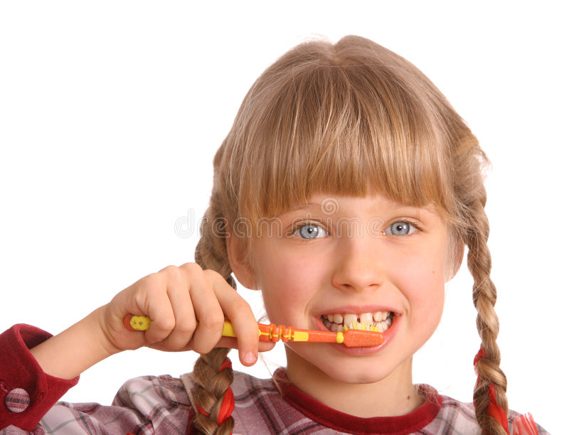 Download Child Clean Brush One's Teeth. Stock Photo - Image: 7737806