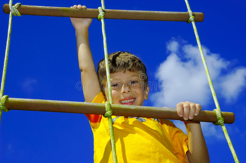 Child Climbing royalty free stock photography