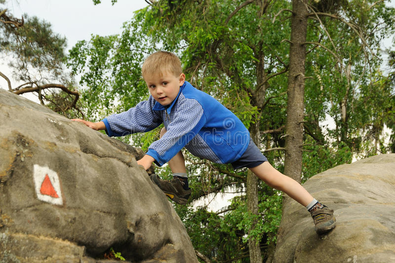 Download Child climbing rock stock photo. Image of sandstone, outdoors - 19735924
