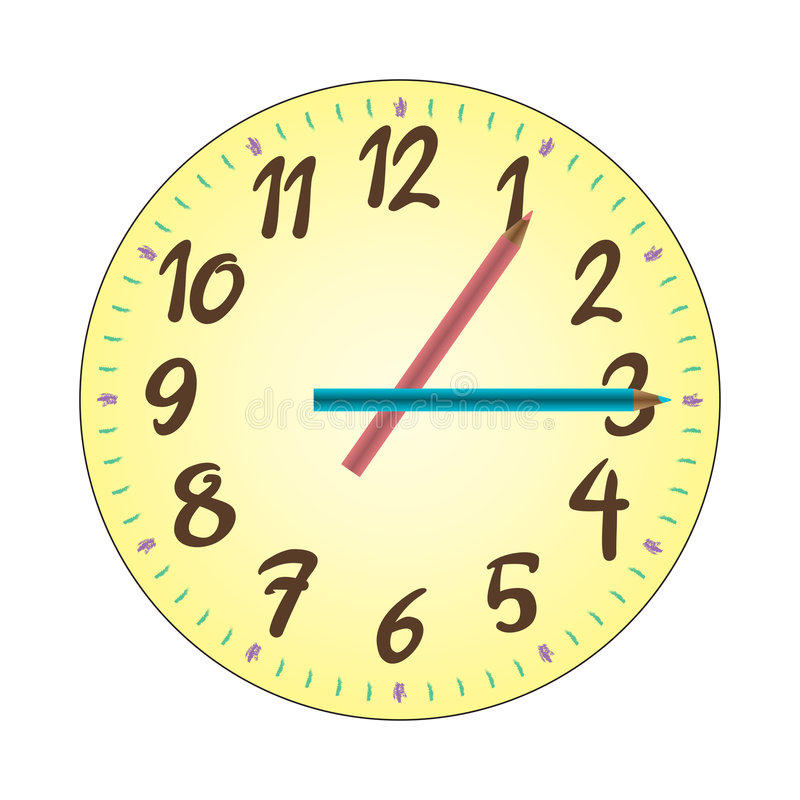 Download Child Clock Illustration stock vector. Illustration of hour - 8615389