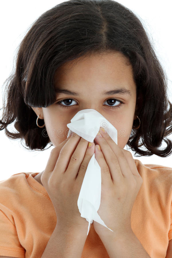 Download Child With Cold stock photo. Image of girl, sick, pollen - 14178102