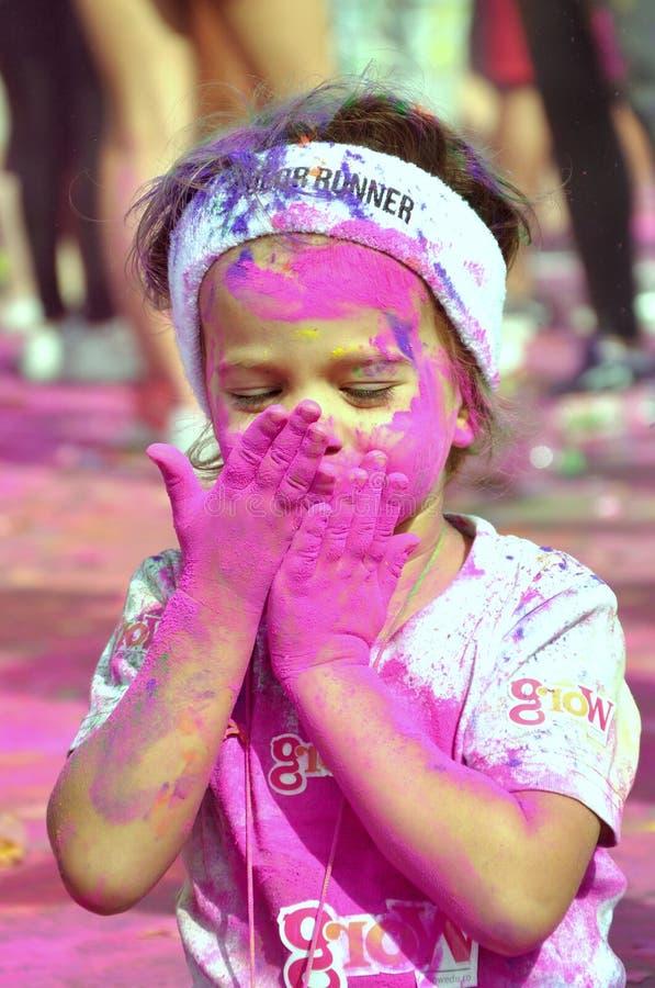 Child, Color run, like, dero, make up, girl stock photography